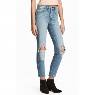 Slim High Cropped Jeans