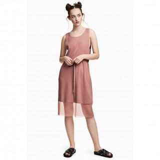 메쉬 트리밍 드레스