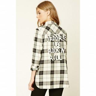 Rock N Roll 플레이드 셔츠
