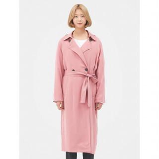 핑크 데일리 트렌치 코트