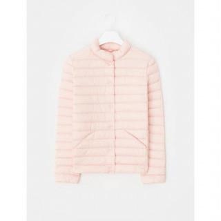 살몬 핑크 경량다운 퀄팅 쇼트 점퍼