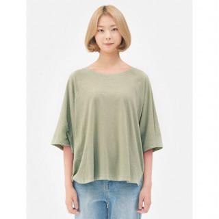애플그린 베이직 라운드넥 티셔츠
