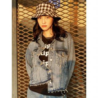 스카이 블루 프린지 데님 재킷