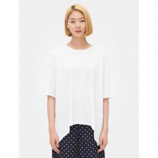 화이트 백 셔링 반소매 티셔츠