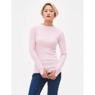라이트 핑크  소프트 터치 울 캐시미어 블렌드 스웨터