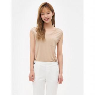 옐로이시 브라운 섬머 데일리 티셔츠