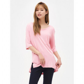 핑크 데일리 티셔츠