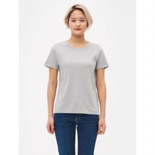 그레이 라운드넥 베이직 반소매 티셔츠