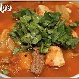 닭가슴살새우토마토덮밥