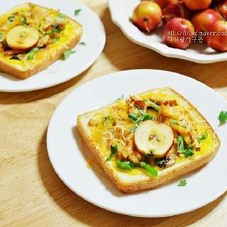 사과식빵피자