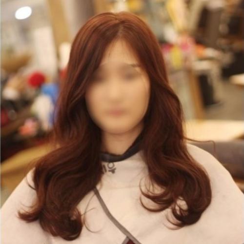 긴머리 글램펌